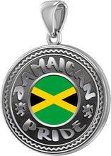 Jamaican Necklace With Flag For Men - Pendant Only