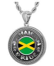 Jamaican Necklace With Flag For Men - 3mm Rope Chain