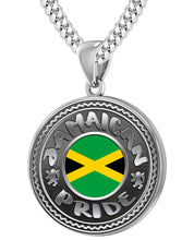 Jamaican Necklace With Flag For Men - 4.1mm Cuban Chain