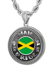 Jamaican Necklace With Flag For Men - 4.4mm Rope Chain