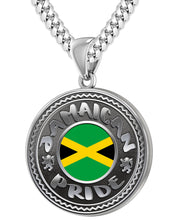 Jamaican Necklace With Flag For Men - 5.6mm Cuban Chain