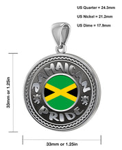 Jamaican Necklace With Flag For Men - Size Details