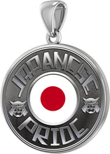 Japanese Necklace In Silver With Flag - Pendant Only