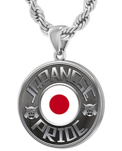Japanese Necklace In Silver With Flag - 4.4mm Rope Chain