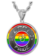 LGBT Necklace Of Silver Crafted For Men - 3mm Rope Chain
