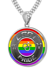 LGBT Necklace Of Silver Crafted For Men - 4.1mm Cuban Chain