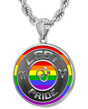 LGBT Necklace Of Silver Crafted For Men - 4.4mm Rope Chain