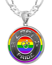 LGBT Necklace Of Silver Crafted For Men - 5.2mm Figaro Chain