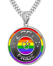 LGBT Necklace Of Silver Crafted For Men - 5.6mm Cuban Chain