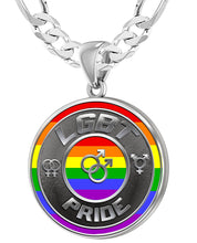 LGBT Necklace Of Silver Crafted For Men - 6mm Figaro Chain