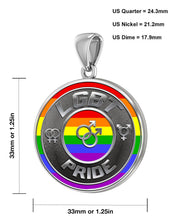 LGBT Necklace Of Silver Crafted For Men - Size Details