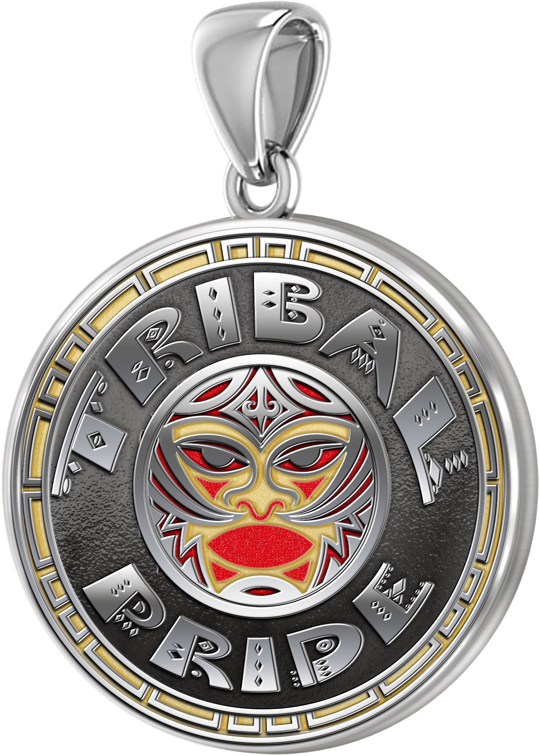 Tribal Pendant - Men's Tribal Pride Medal Pendant