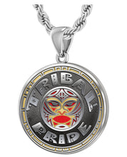 Men's 925 Sterling Silver Tribal Pride Medal Pendant Necklace, 33mm