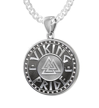 Viking Pride Necklace - Sterling Silver Mens Pendant Chain