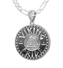 Viking Pride Necklace - Sterling Silver Mens Pendant Chains