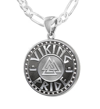 925 Sterling Silver Viking Pride Medal Pendant Necklace