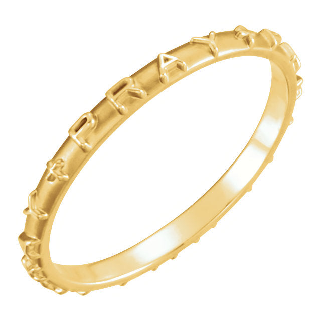 Christian Ring With Purity For Ladies - Top View