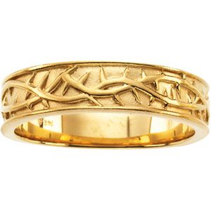 Gold Ring Men In Yellow Gold - Front View