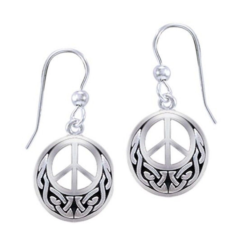 Dangle Earrings - Knotwork Earrings In Silver For Women