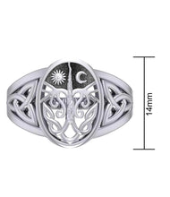 Ladies 10k or 14k Yellow or White Gold Irish Celtic Trinity Tree of Life Ring