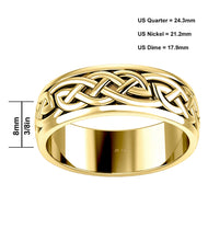 Celtic never ending Knot Wedding Spinner Band - Top View