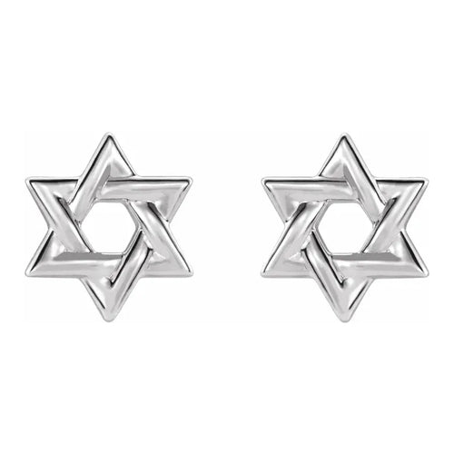 Stud Earrings - Star Of David Earrings For Ladies