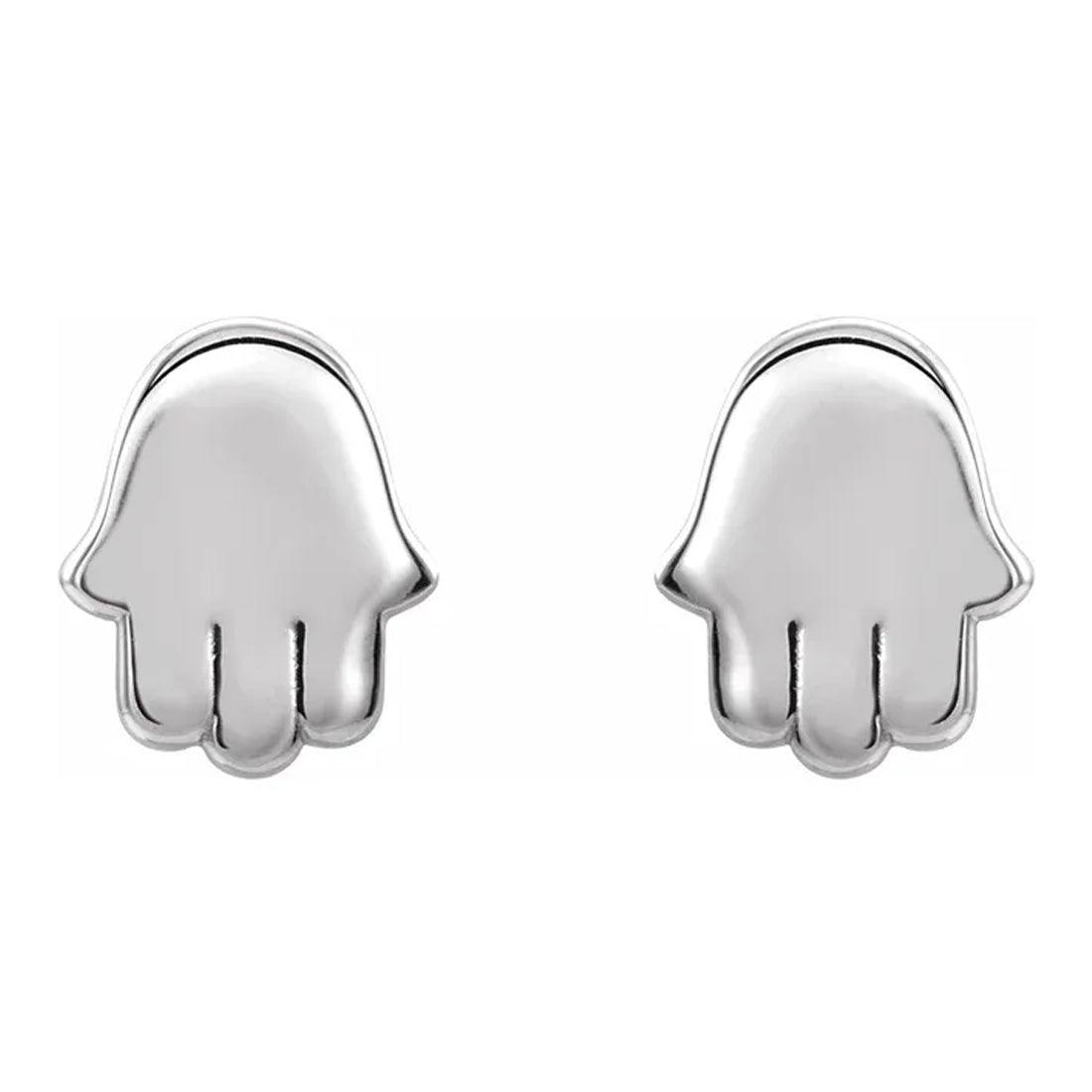 Sterling Silver Stud Earrings - Hamsa Earrings