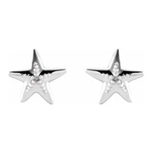 Stud Earrings - Starfish Earrings For Ladies In White Gold