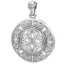 Celtic Necklace With Irish Knotwork Pendant - Front View