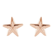 Stud Earrings - Starfish Earrings For Ladies In Rose Gold