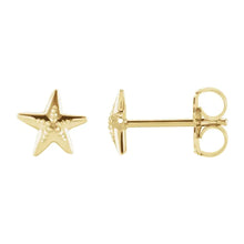 Stud Earrings In Starfish Design For Ladies - Side View