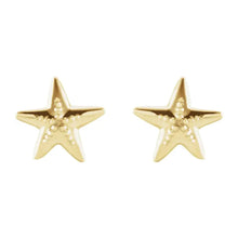 Stud Earrings - Starfish Earrings For Ladies In Yellow Gold