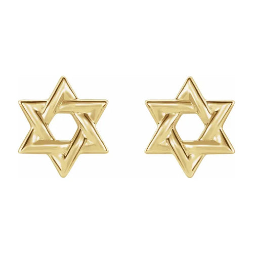 Gold Stud Earrings - Star of David Earrings For Ladies