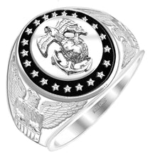US Marine Corps Military 0.925 Sterling Silver - US Jewels