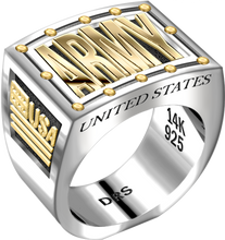 Men's Heavy Two Tone US Army Ring