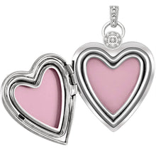 Heart Locket With 2 Photos & Diamond Accents - Inner View
