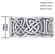 Celtic Weave Knotwork Band Sterling Silver - Top View