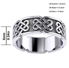 Celtic Knot Ring In Silver With 925 Purity - Size Details