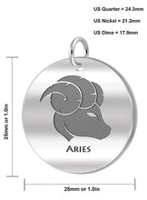 Aries Necklace Of Silver In Round - Size Details