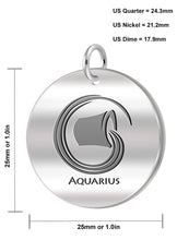 Aquarius Necklace Of Silver In Round - Size Details