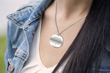 Leo Necklace Of 0.925 Silver In Round - Worn By Woman