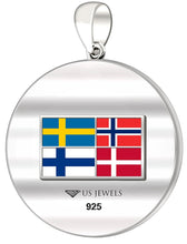 Flag Necklace With DNA Norseman Disc - No Chain