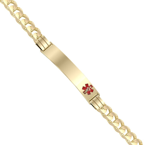Medical Alert Bracelet - Curb Bracelet ID For Ladies
