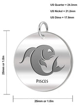 Pisces Necklace Of Silver With Fishes - Size Details