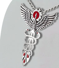 Medical Necklace With Caduceus Modern Day Twist - Full View