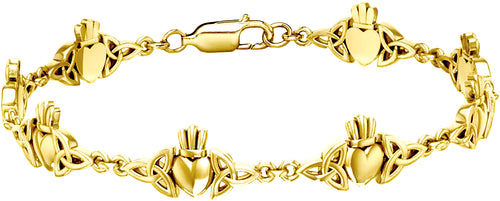 Link Bracelet For Women - Yellow Gold