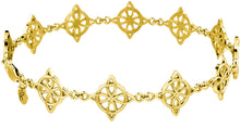 Link Bracelet Four Point Women - Yellow Gold