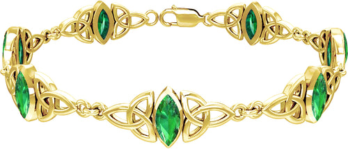 Gold Bracelet In 15 Birthstone Options - Yellow Gold