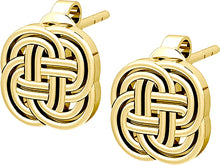 Stud Earrings Solid Gold Irish Celtic Endless or Love Knot