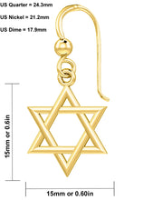Gold Earrings With Star Of David - Complete Details